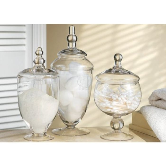 Plastic apothecary jars a listly list for Small bathroom jars