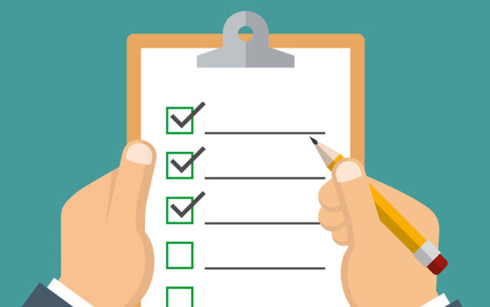 check list Definition of checklist: comprehensive list of important or relevant actions, or steps to be taken in a specific order not to be confused with a checksheet.