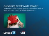 Networking for Introverts (Really!)