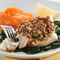 10 Healthy and Yummy Almond Recipes | Almond-&-Lemon-Crusted Fish with Spinach