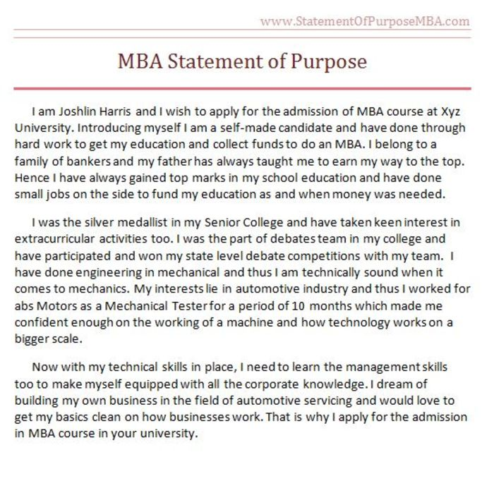 mba essay statement of purpose Mba statement of purpose mba admission essay mba statement of purpose sample writing a statement of purpose for mba is.