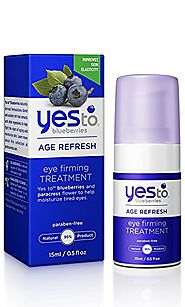 Best Natural Eye Creams for Wrinkles - 2017 Top Picks List and Reviews | Yes To Blueberries Age Refresh Eye Firming Treatment