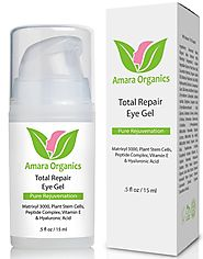 Amara Organics Eye Cream Gel for Dark Circles and Puffiness
