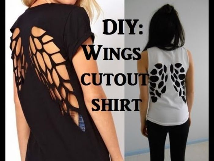 Slicing Shirts: 10 Awesome DIY T Shirt Cut Outs | A Listly List
