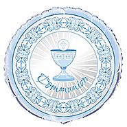 First Communion Decorations and Party Supplies | Blue Cross Communion Balloon