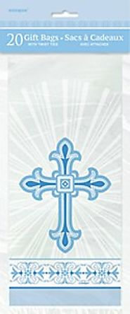 First Communion Decorations and Party Supplies | Blue Cross Cello Gift Bags