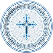 First Communion Decorations and Party Supplies | Radiant Blue Cross Plates
