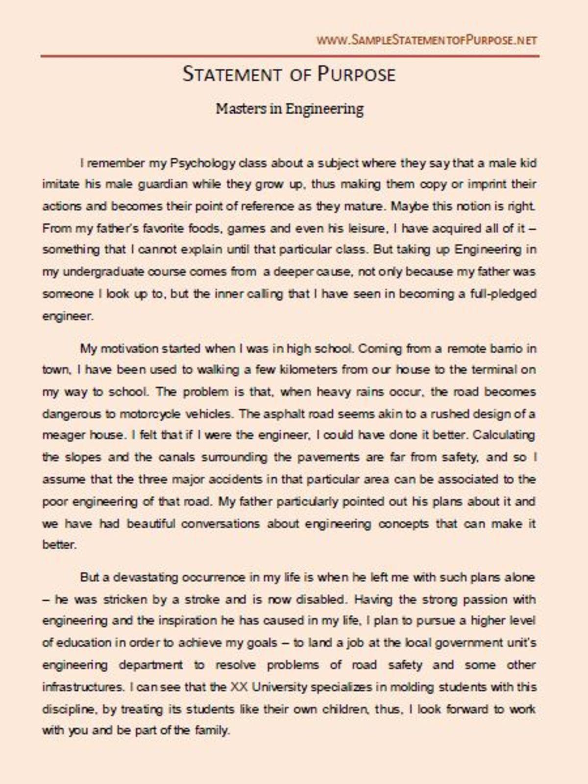 statement of purpose essay format