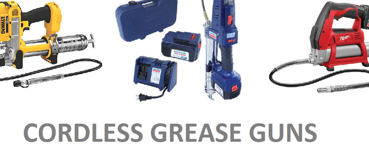 18V Cordless Grease Gun - Battery Operated & Easy to Use