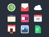 Free Icons for Websites | Flat icons (PSD) - 3 Dribbble invites