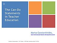 March 29 | 2014 | The Can-Do Statements in Teacher Education