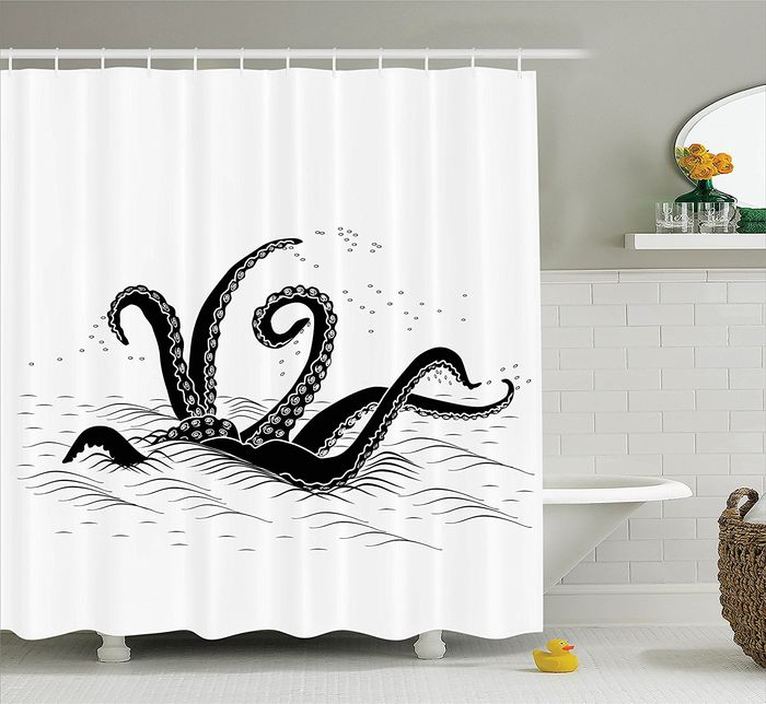 Best Black And White Octopus Shower Curtain Designs A Listly List