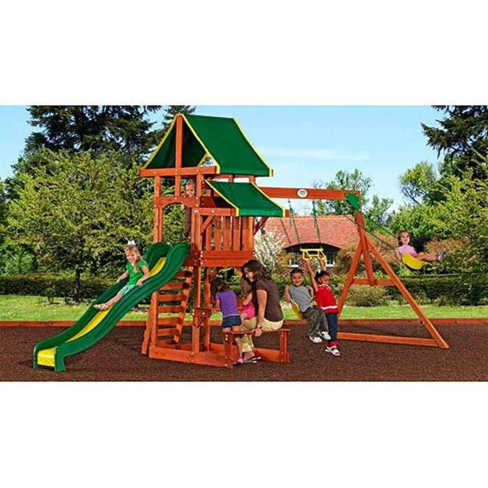 best rated wooden backyard swing sets for older kids on sale reviews
