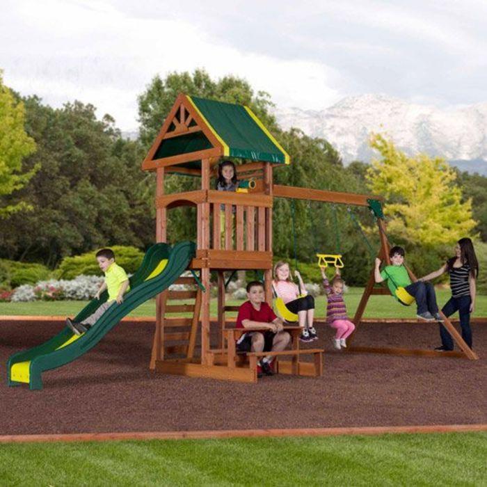 Best-Rated Wooden Backyard Swing Sets For Older Kids On ...