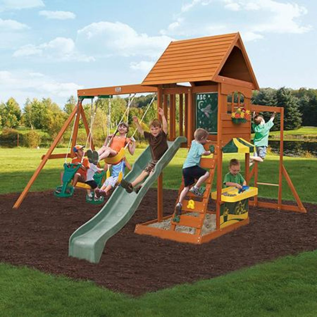 Best Rated Wooden Backyard Swing Sets For Older Kids On Sale   Reviews And  Ratings | A Listly List