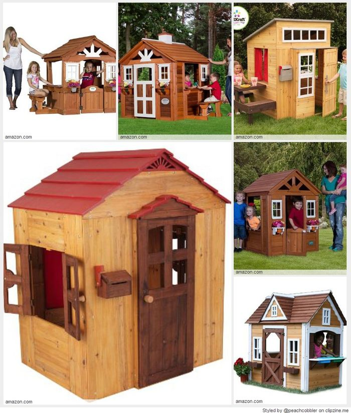 Best rated children 39 s wooden outdoor playhouses for sale for Kids wooden play house
