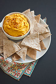 50 Yummy Healthy Snack Recipes for Everyone | Spicy Sweet Potato Hummus Recipe