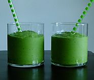 "50 Yummy Healthy Snack Recipes for Everyone | Spinach and Avocado Smoothie Recipe (aka ""Leprechaun Juice"")"
