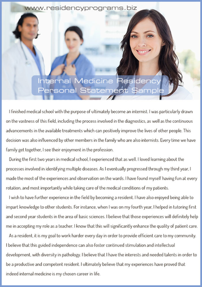 best residency personal statement service