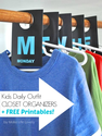Free Organizing Printables | Free Printable Closet Labels ~ Day #9
