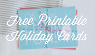 Free Organizing Printables | Free Printable Holiday Cards