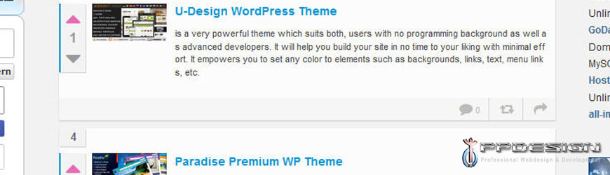 Headline for Top 100 WP-Themes