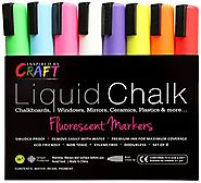 Liquid Chalk Markers For Chalkboards | LIQUID CHALK MARKERS - Premium Chalk Ink Paint Pens 8pck 6mm Chisel Tip