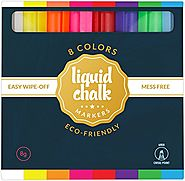 Liquid Chalk Markers For Chalkboards | Liquid Chalk Markers - These Chalkboard Paint Pens come in 8 Beautiful Colors including White, Fine and Chisel 6mm Ti...