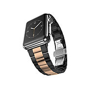 Ultracase: Stainless Steel Strap Bracelet ($67.15 w/ PROMO CODE) - Space Grey + Rose Gold