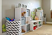 Cool Stuff for Kids | The Unique Nest: Playroom Makeover Part I (DIY Storage Cubes)
