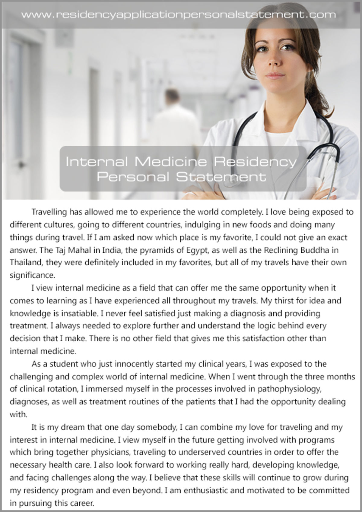 personal statement for residency internal medicine