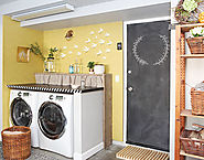 Garages | 7 DIY ideas for a laundry nook in the garage - and 3 things I wouldn't repeat