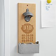Father's Day Gift Guide | Dad EST. Wood Bottle Opener