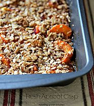 Yummy & Healthy Apricot Recipes | Fresh Apricot Crisp - Healthy Green Kitchen
