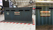 A Jurassic World Transport Crate Has Appeared in the Middle of a London Train Station