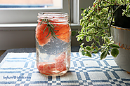 Yummy Infused Water Recipes to Get More Water Daily | Grapefruit Rosemary Infused Water