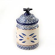 temp-tations Old World Cookie Jar, Blue