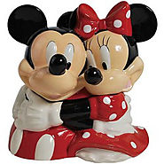 Westland Giftware Ceramic Cookie Jar, Mickey and Minnie Hugging - Kitchen Things