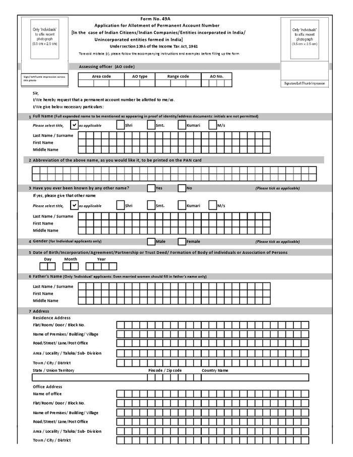 Uti Pan Card Application Download