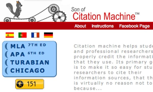 mla formatting machine