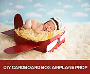 "DIY Newborn Photography Props | Make a DIY Box Airplane Prop for Newborn Photography "" MCP Actions"