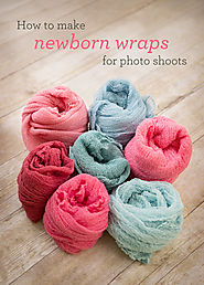 DIY Newborn Photography Props | How to make newborn cheesecloth wraps for photo shoots (totally affordable and SO EASY!) - Cardstore Blog