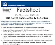 2014 Farm Bill Fact Sheet