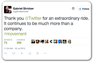 Twitter's head of communications announces departure