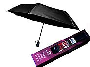 Best Automatic Folding Travel Umbrellas | Procella Travel Umbrella, Compact, Auto Open/Close, Double-Canopy, Case (Black)