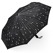 Best Automatic Folding Travel Umbrellas | PLEMO Raindrops Automatic Folding Travel Umbrella