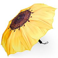 Best Automatic Folding Travel Umbrellas | PLEMO Sunflower Automatic Folding Travel Umbrella