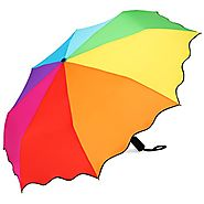 Best Automatic Folding Travel Umbrellas | PLEMO Rainbow Automatic Folding Travel Umbrella