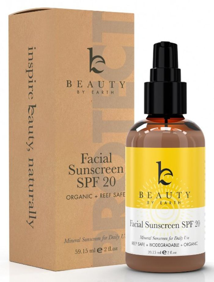 All natural facial sunscreen