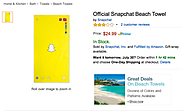 Snapchat's Newest Business Model: Beach Towels?